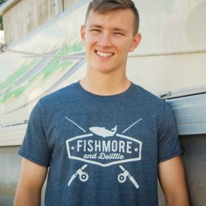 Fishmore Dolittle funny fishing or retirement tee shirt