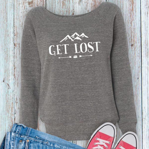 Get Lost Ladies Fleece Sweatshirt