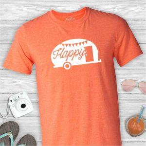 Happy Camper Vintage Trailer T Shirt