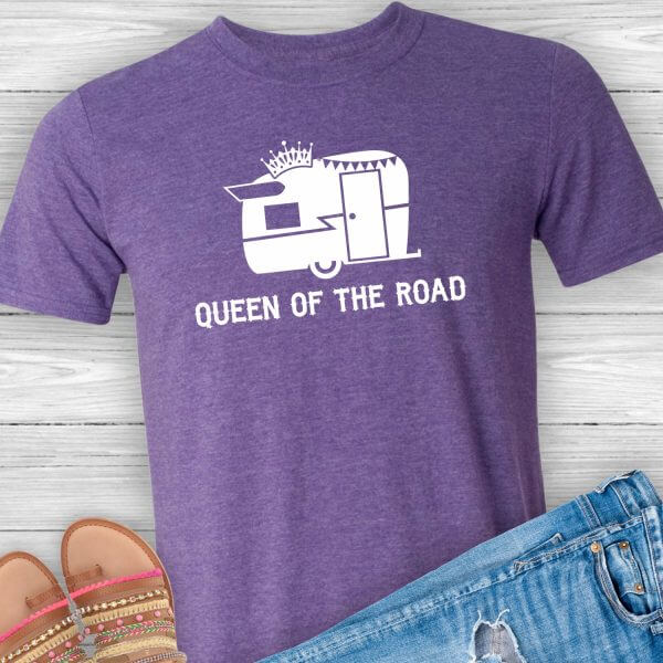 Queen of the Road Travel Trailer Shirt