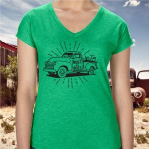 rust or bust ladies junking and picking shirt
