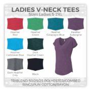 Ladies V-Neck Tees