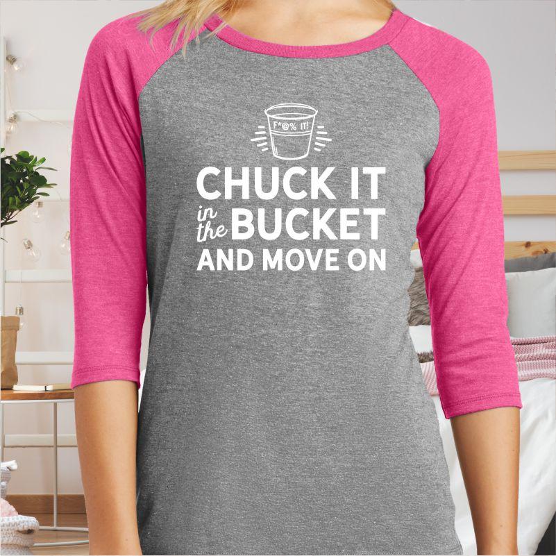 Chuck-Bucket-Move-On-Baseball-Tee-Shirt