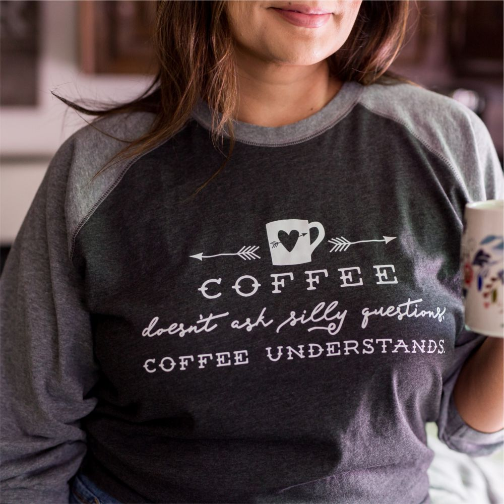 Coffee-Doesnt-Ask-Silly-Questions-Baseball-Tee-Model