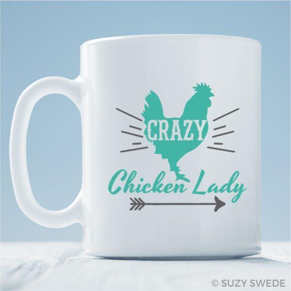 Crazy Chicken Lady Mug