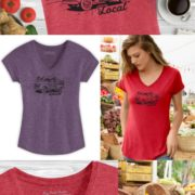 Eat Local Ladies Farmer's Market Tee