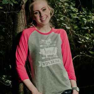 Farm Sweet Farm Ladies Baseball Tee
