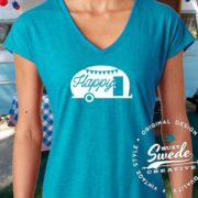 Vintage Camper Glamping Tee  © All designs copyright Suzy Swede Creative
