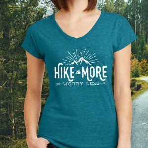 Hike More Worry Less Hiking T-shirt