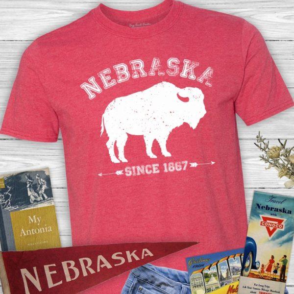 Nebraska Since 1867 Arrows Buffalo Tee Shirt
