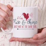 Rise & Shine Mug - Red and Grey