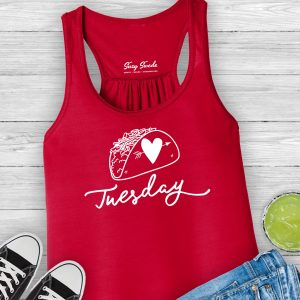 Taco Tuesday Ladies Racerback Tank