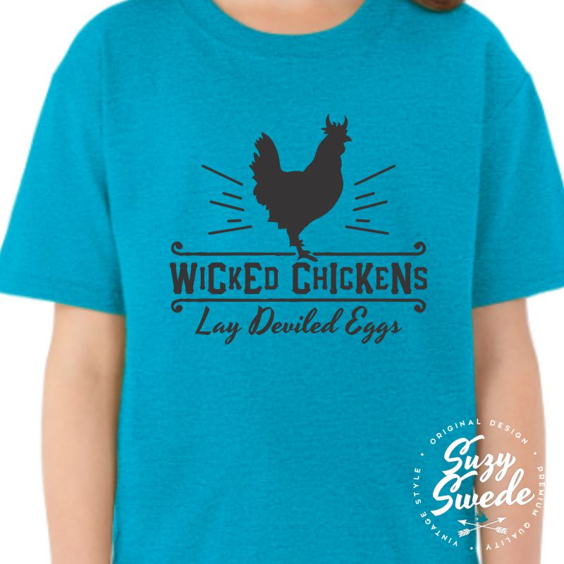 Wicked-Chickens-Kids-Youth-Tshirt