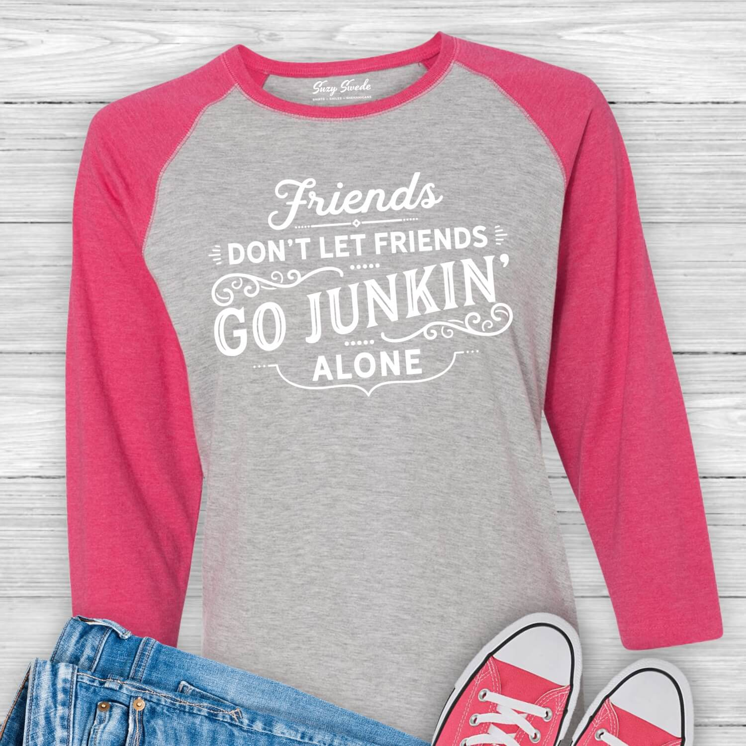 Friends-Dont-Let-Friends-Go-Junkin-Alone-Baseball-Tee