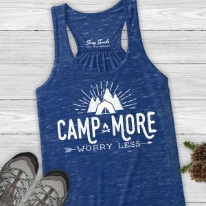 Camp More Worry Less Ladies Tank