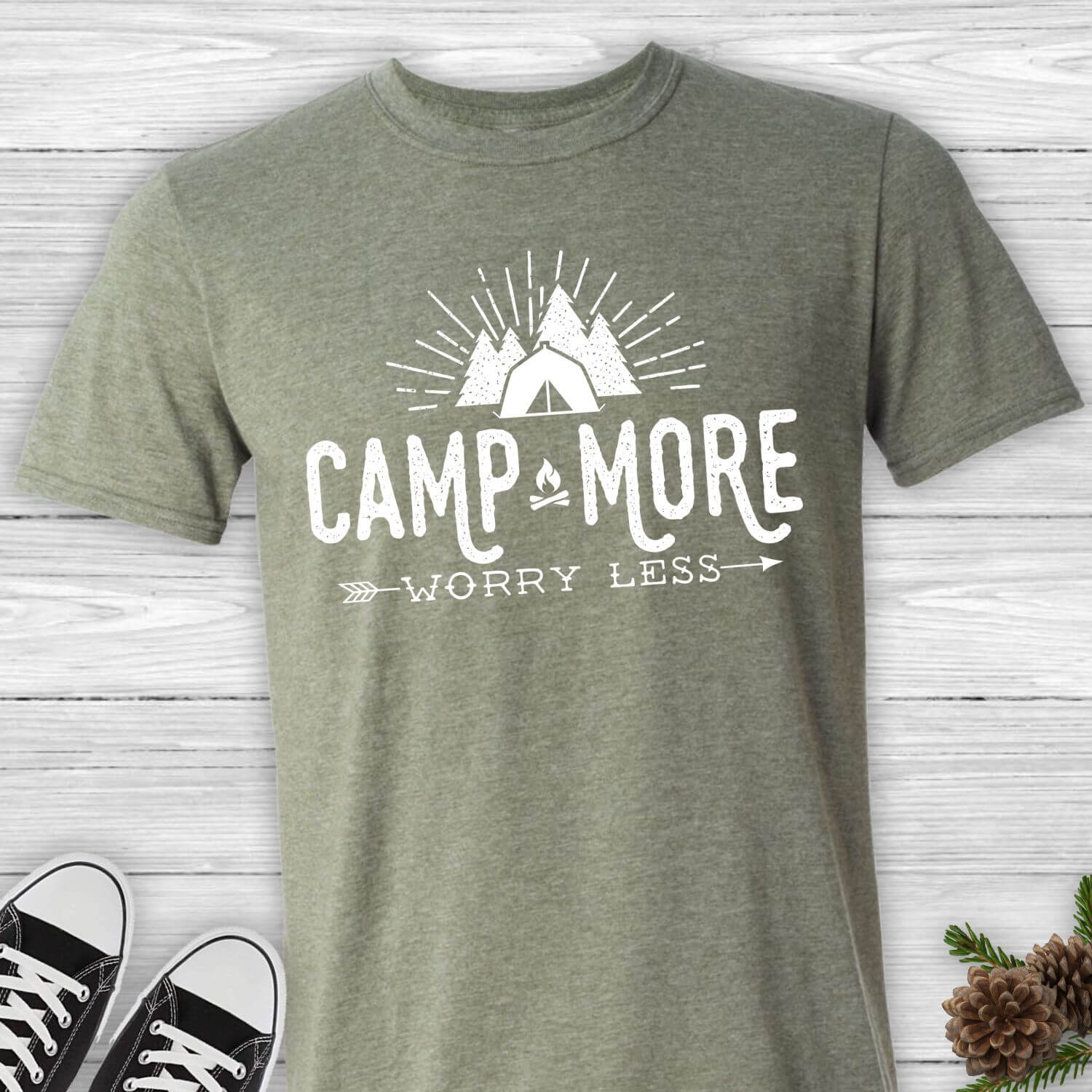 Camp-More-Worry-Less-Unisex-Tee-Shirt