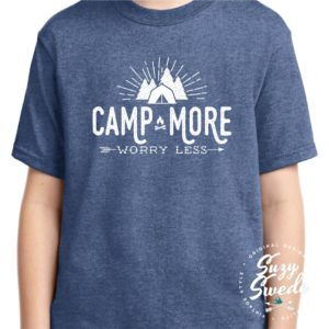 Camp More Worry Less Kids Tee Shirt