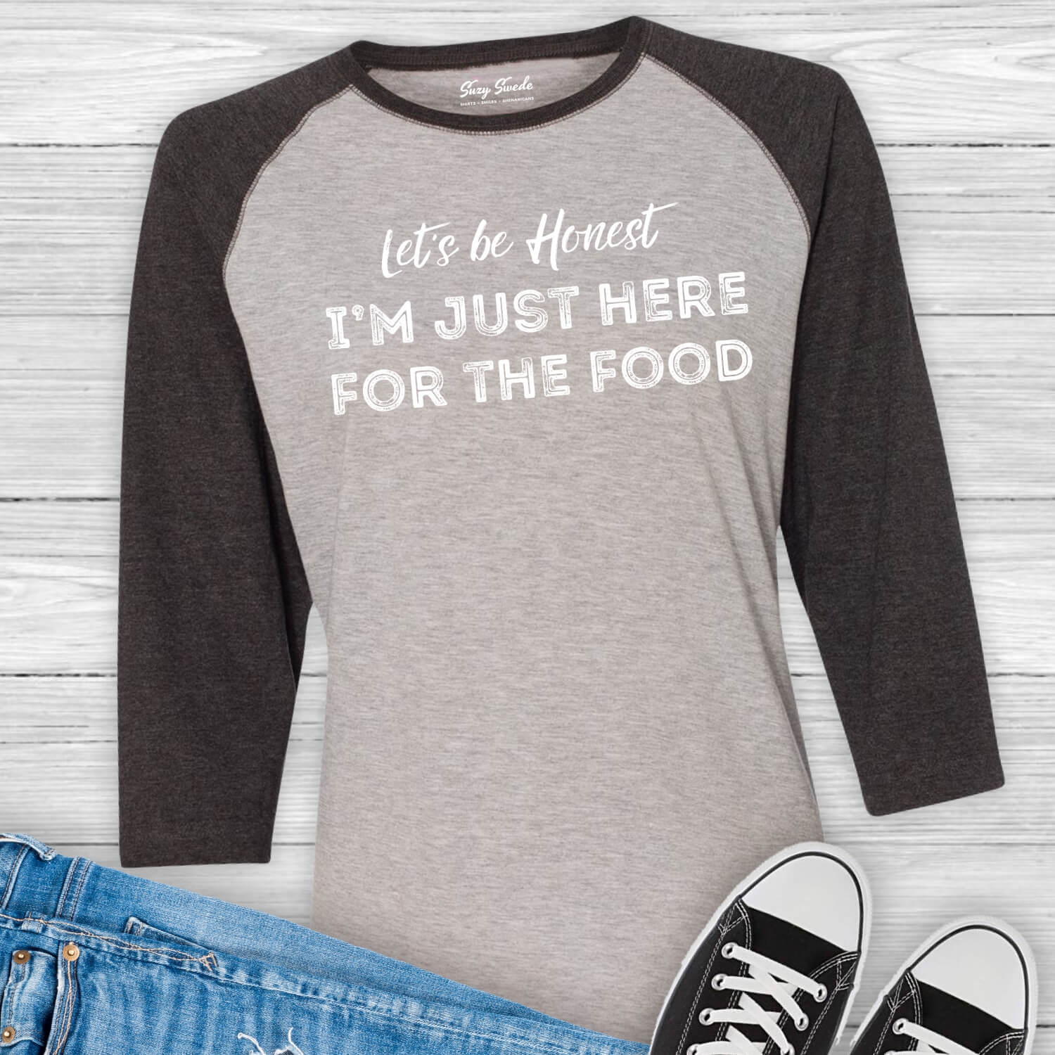 Just-Here-For-The-Food-Baseball-Tee