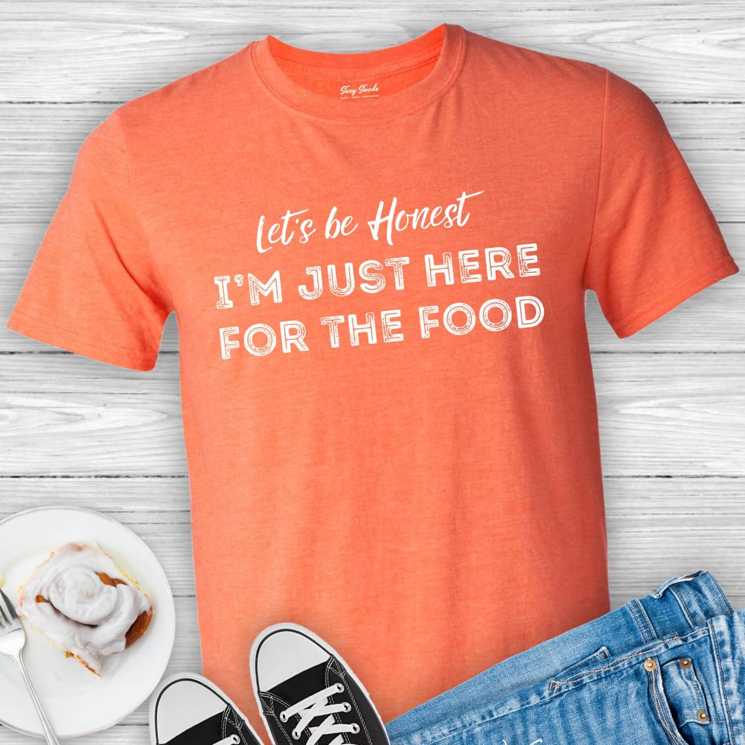 Just-Here-For-The-Food-Tee-Shirt