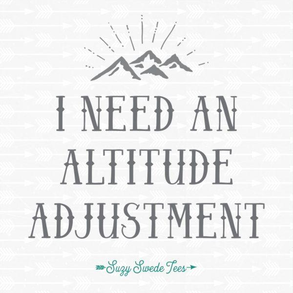 I Need An Altitude Adjustment