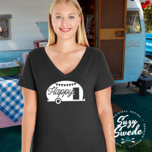 HappyCamper-Vneck-Black