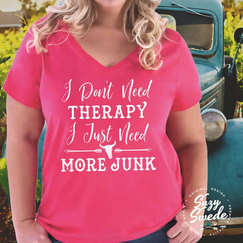 DontNeedTherapy-Vneck-Pink