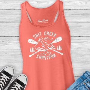 Shit Creek Survivor Ladies Racerback Tank