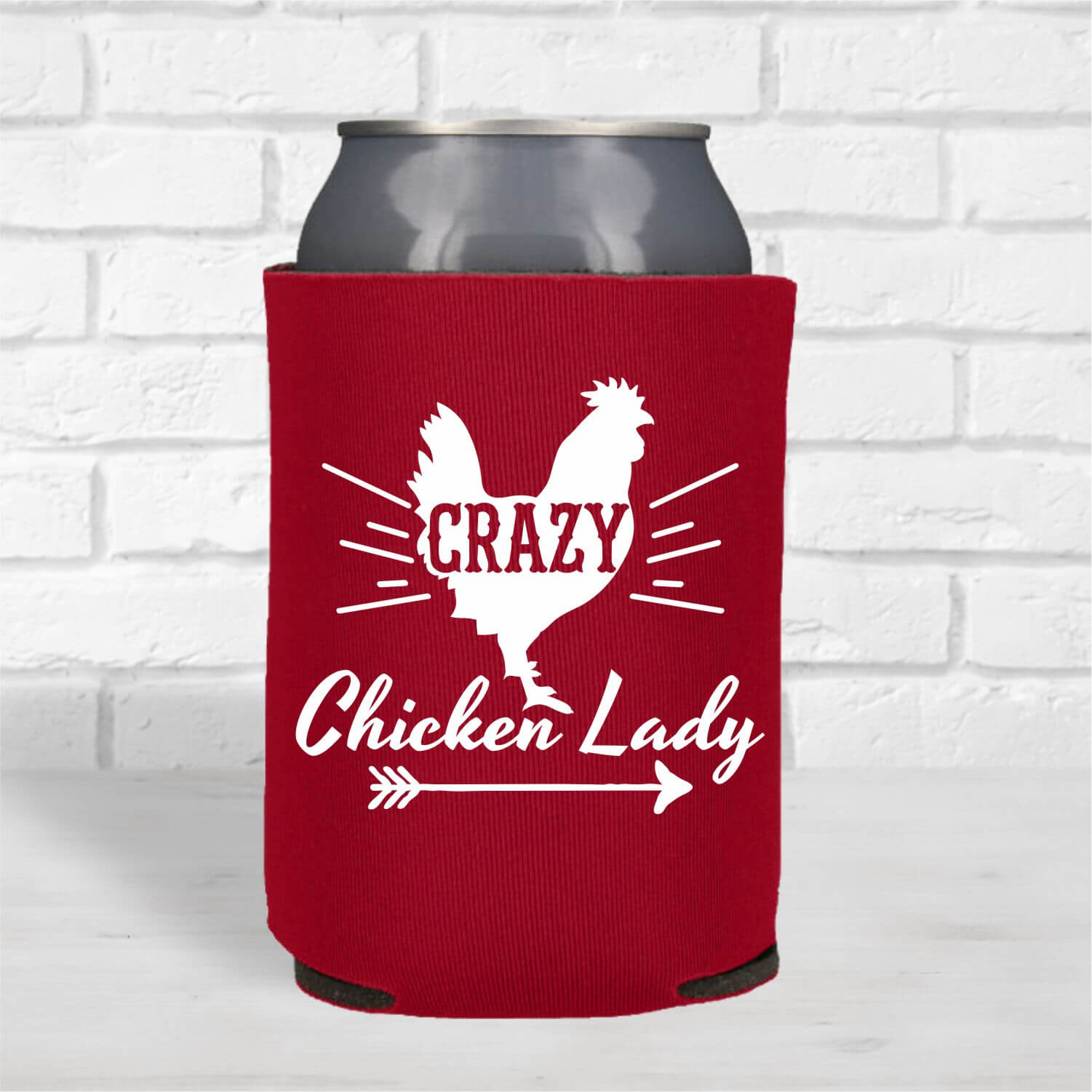 Can Coolers-Crazy-chicken-lady