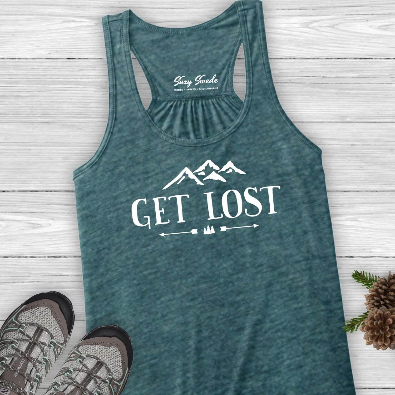 Get-lost-Ladies-Racerback-Hiking-Tank