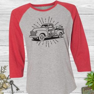 Rust or Bust Antiques Picking Baseball Tee Shirt
