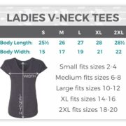 Ladies V-neck Tees Suzy Swede