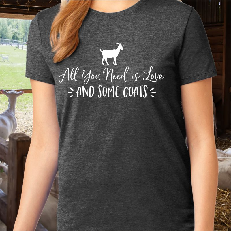All You Need Love and Some Goats Unisex Graphic Tee