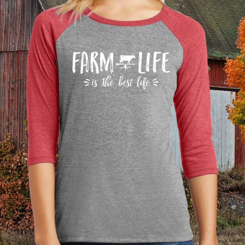 Farm Life is the Best Life Baseball Shirt