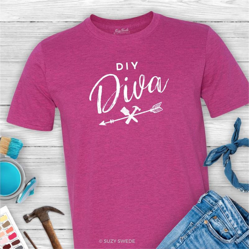 DIY-Diva-Chalk-Painter-Graphic-Tee