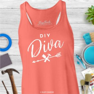 DIY Diva Upcycling & Vintage Ladies Racerback Tank Top