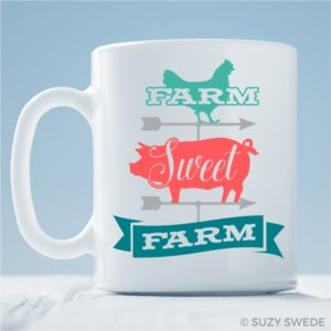 Farm Sweet Farm Coffee Mug Farmhouse Mug