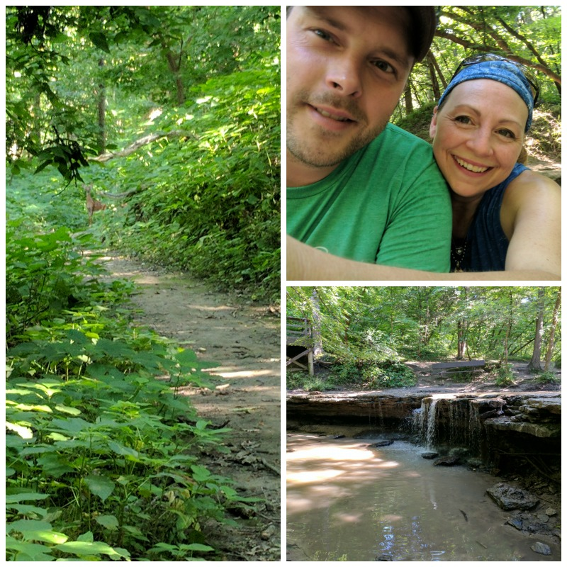 Hiking at Platte River State Park Louisville, Nebraska