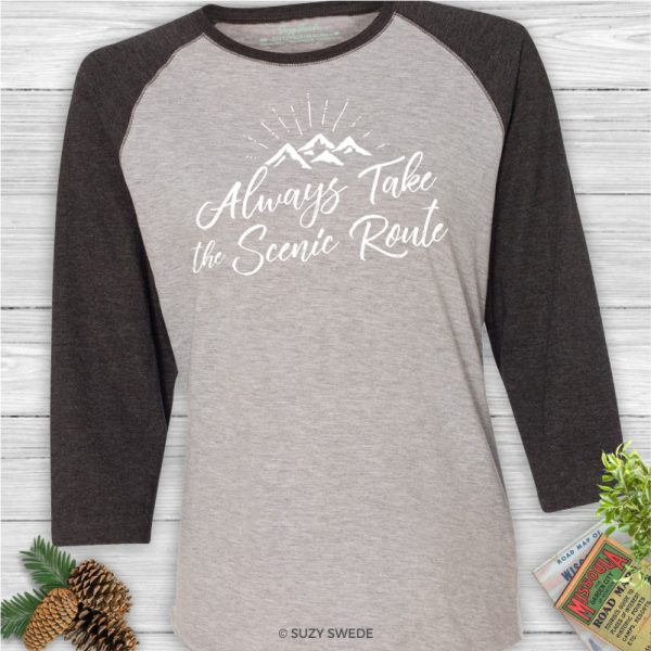 Always-Take-Scenic-Route-Baseball-Shirt