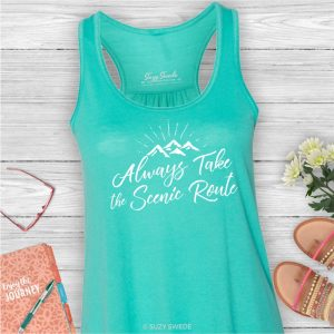 Always Take the Scenic Route Ladies Wanderlust Tank Top
