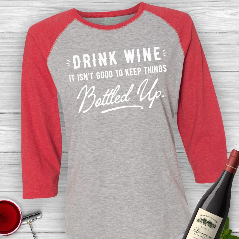 Drink-Wine-Bottled-Up-Baseball-Shirt