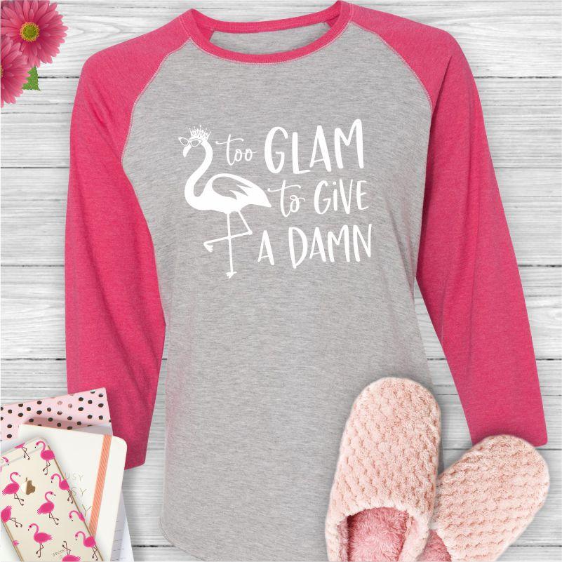 Too-Glam-Give-Damn-Baseball-Tee