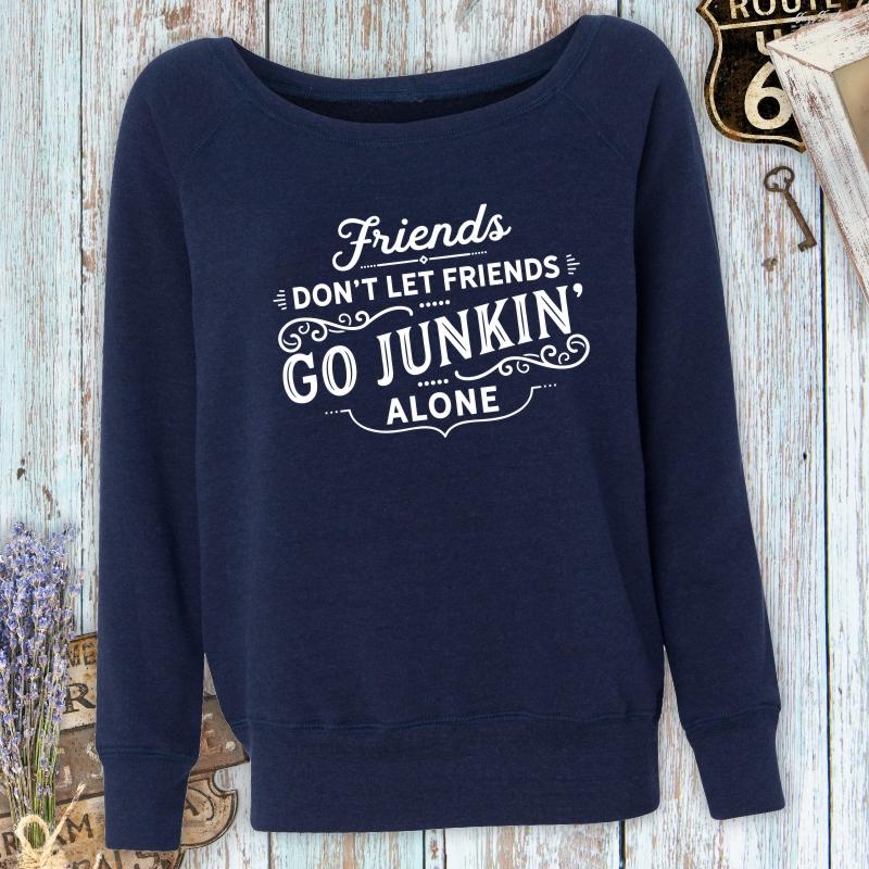 Friends-Dont-Let-Friends-Junking-Alone-Fleece