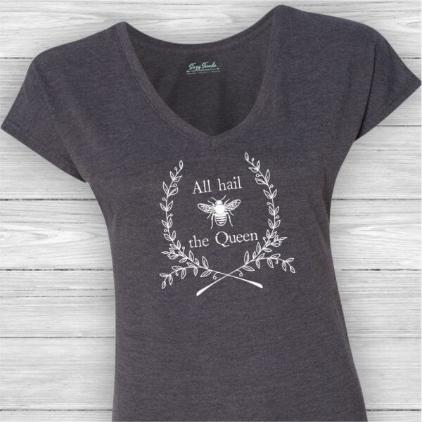 All Hail the Queen Ladies V-Neck Tee