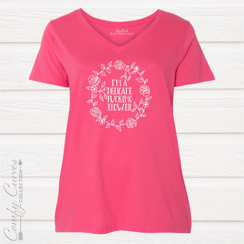 Delicate-Flower-Comfy-Curves-Tee