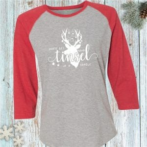 Don't Get Your Tinsel in a Tangle Holiday Baseball Tee