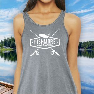 Fishmore & Dolittle ladies fishing tank top