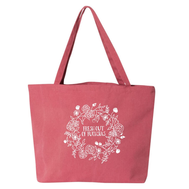 Fresh-Out-Fuchsisa-Tote-Bag