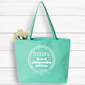Crafting tote bag, stitching bag, market tote bag