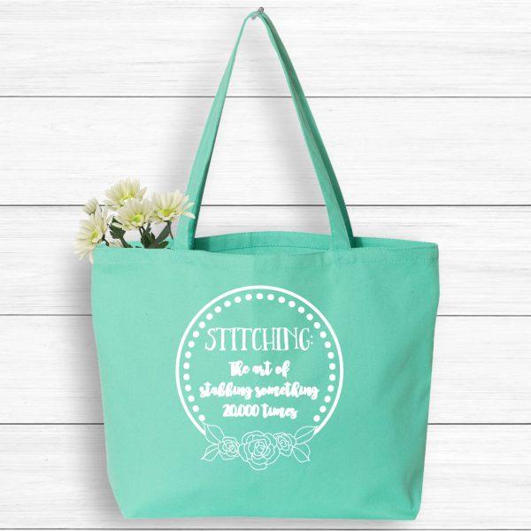 Crafting tote bag, stitching bag, market tote bag