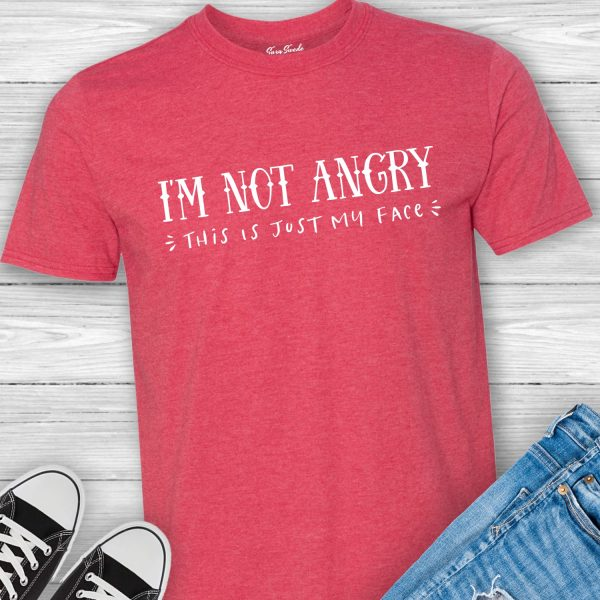 I'm Not Angry This Is Just My Face funny introvert tee